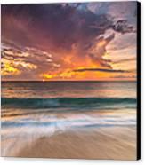 Fiery Skies Azure Waters Rendezvous Canvas Print