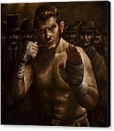 Fight Canvas Print by Mark Zelmer