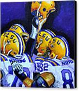 Fighting Tigers Of Lsu Canvas Print by Terry J Marks Sr