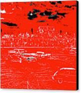 Film Homage Damnation Alley 1 1977 Demolition Derby Tucspn Arizona 1968-2008 Canvas Print by David Lee Guss