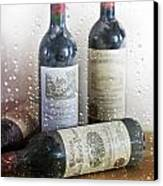 Fine Wine On A Rainy Afternoon Canvas Print by Georgia Fowler