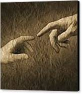 Fingers Almost Touching Canvas Print by Don Hammond