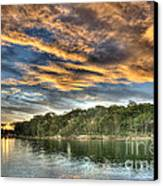 Fingers Of Flame.  Sunset Canvas Print