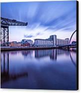 Finnieston Crane And Glasgow Arc Canvas Print by John Farnan