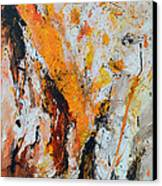 Fire And Passion - Abstract Canvas Print by Ismeta Gruenwald
