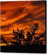 Fire In The Skies Canvas Print by Rebecca Cearley