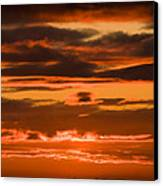 Fire In The Sky Canvas Print by Anne Gilbert