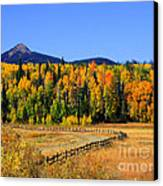 Fire On The Mountain Canvas Print by Dana Kern