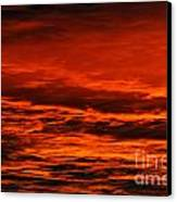 Fire Reds Sunset Canvas Print by Rebecca Christine Cardenas