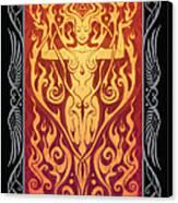 Fire Spirit V.2 Canvas Print by Cristina McAllister