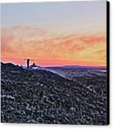 Firefighter At Sunset Canvas Print by Tony Reddington