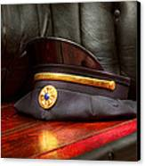 Firefighter - Hat - The Ex Chiefs Hat Canvas Print by Mike Savad
