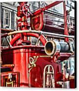Fireman - Antique Brass Fire Hose Canvas Print by Paul Ward