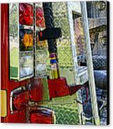Fireman Keep Back 300 Feet Canvas Print