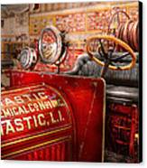 Fireman - Mastic Chemical Co Canvas Print by Mike Savad