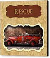 Fireman - Rescue - Police Canvas Print by Mike Savad