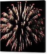 Fireworks 1 Canvas Print by Jeffrey J Nagy