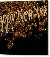 Fireworks 2013 In Elegant Gold And Black Canvas Print