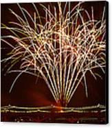 Fireworks At Tempe Town Lake  Canvas Print by Saija  Lehtonen