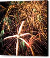 Fireworks Exploding Everywhere Canvas Print by Garry Gay