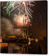 Fireworks Exploding Over Salem's Friendship Canvas Print