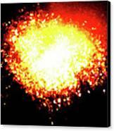 Fireworks Heart Canvas Print by Andrea Barbieri