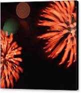 Fireworks Canvas Print by Kelly Howe