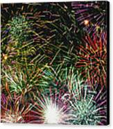 Fireworks Canvas Print by Lester Phipps