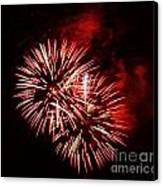 Fireworks Red-white Canvas Print by Katja Zuske