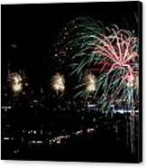 Fireworks Canvas Print by Stanlerd Rodriguez
