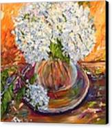 First Bouquet Canvas Print by Barbara Pirkle