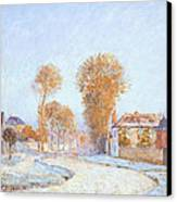 First Frost Canvas Print by Alfred Sisley
