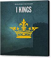First Kings Books Of The Bible Series Old Testament Minimal Poster Art Number 11 Canvas Print by Design Turnpike