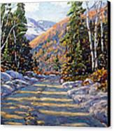 First Snow By Prankearts Canvas Print by Richard T Pranke