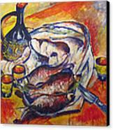 Fish And Wine Canvas Print by Vladimir Kezerashvili
