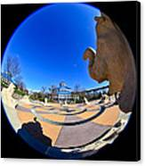 Fish Eye View Of Coolidge Park Canvas Print by Tom and Pat Cory