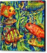 Fish Tales IIi Canvas Print by Ann  Nicholson