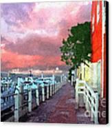 Fisherman's Village Marina Del Mar Ca Canvas Print