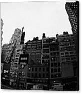Fisheye View Of 34th Street From 1 Penn Plaza New York City Usa Canvas Print by Joe Fox