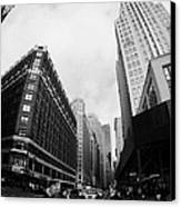 Fisheye View Of The Herald Square Building And Cross Walks Over Broadway New York Canvas Print