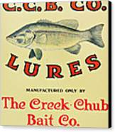 Fishing Bait Advertising Sign Canvas Print by Randy Steele