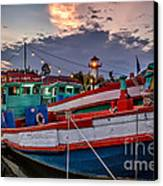 Fishing Boat Canvas Print by Adrian Evans