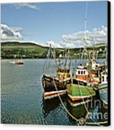Fishing Boats At Uig Skye Scotland 1994 Canvas Print by David Davies