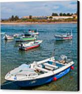 Fishing Boats Canvas Print by Luis Alvarenga