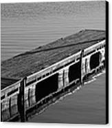 Fishing Dock Canvas Print by Frozen in Time Fine Art Photography