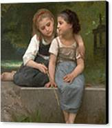 Fishing For Frogs Canvas Print by William Bouguereau