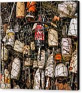 Fishing Gear Cape Neddick Maine Canvas Print by Thomas Schoeller