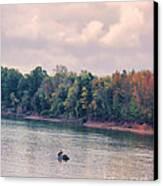Fishing In Autumn Canvas Print by Jai Johnson