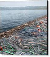 Fishing Nets To Dry Canvas Print
