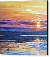 Fishing Paradise Sunset Canvas Print by Andrei Attila Mezei
